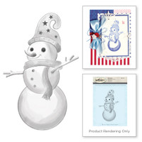 Spellbinders Stamps - Holiday 3D Shading Stamps - Whimsical Snowman