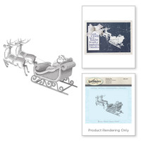 Spellbinders Stamps - Holiday 3D Shading Stamps - Santa Sleigh