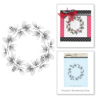 Spellbinders Stamps - Holiday 3D Shading Stamps - Wreath