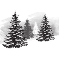 Spellbinders Stamps - Holiday 3D Shading Stamps - Pine Tree