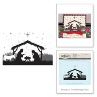 Spellbinders Stamps - Holiday 3D Shading Stamps - Manger Scene