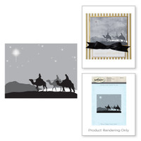 Spellbinders Stamps - Holiday 3D Shading Stamps - Three Kings