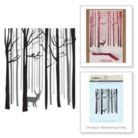 Spellbinders Stamps - Holiday 3D Shading Stamps - Snow Forest