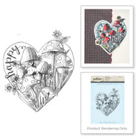Spellbinders Stamps - Holiday 3D Shading Stamps - Happy Heart