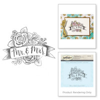 Spellbinders Stamps - Holiday 3D Shading Stamps - Mr & Mrs