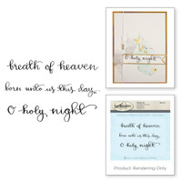 Spellbinders Stamps - Holiday 3D Shading Stamps - Breath of Heaven