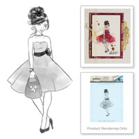 Spellbinders Stamps Stacey Caron Collection :  Fab Girl Rouge Royale