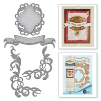 Spellbinders Shapeabilities  By Stacey Caron - Opulent Flourish Accents Rouge Royale