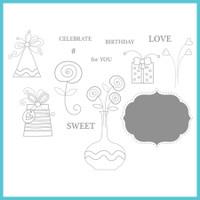 Spellbinder's Celebra'tions Stamps - #Sweet