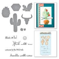 Spellbinders Stamp & Die By Debbie Adams - Cacti Wild