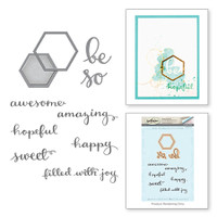 Spellbinders Stamp & Die By Debbie Adams - Be So Hex Wild & Free
