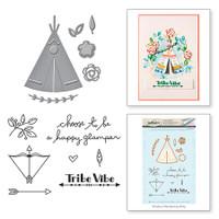 Spellbinders Stamp & Die By Debbie Adams - Tribe Vibe Wild & Free