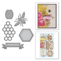 Spellbinders Die D-Lites - Honey Bee
