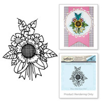 Spellbinders Stamps Tammy Tutterow Collection : Sunflower Bunch