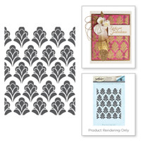 Spellbinders Stamps by Stacey Caron : Eloquent Flourish Rouge Royale