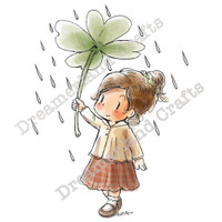 Dreamerland Crafts Cling Stamp - Rain Or Shine