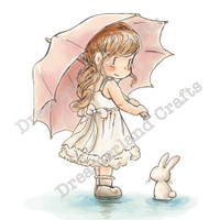 Dreamerland Crafts Cling Stamp - Staying Dry
