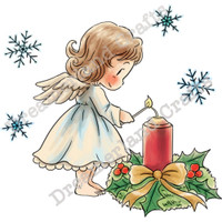 Dreamerland Crafts Cling Stamp - Lighting The Candle