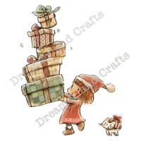 Dreamerland Crafts Cling Stamp - Stack The Presents