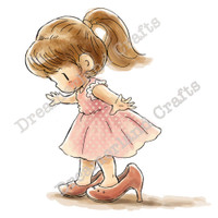 Dreamerland Crafts Cling Stamp - Big Shoes To Fill