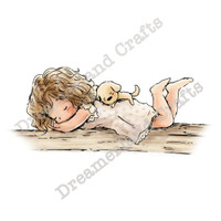 Dreamerland Crafts Cling Stamp - A Little Peaceful Rest