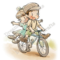 Dreamerland Crafts Cling Stamp - Bicycle Fun