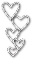Memory Box Craft Die - Classic Stitched Heart Rings