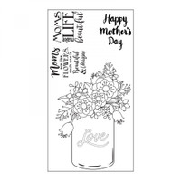 Sizzix Interchangeable Clear Stamps by Lynda Kanase - Mother's Day