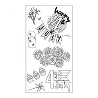 Sizzix Clear Stamps by Jen Long - Fireworks & Sparklers