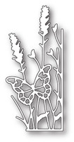 Memory Box Craft Die - Large Lavender Butterfly Right Corner