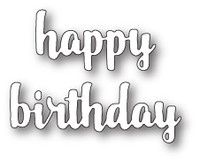Memory Box Craft Die - Happy Birthday Upright Script
