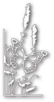 Memory Box Craft Die - Lavender Butterfly Left Corner