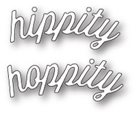 Memory Box Craft Die - Hippity Hoppity Curved Script