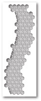 Memory Box Poppystamps Dies - Honeycomb Curve