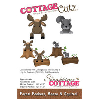 CottageCutz Die - Forest Peekers: Moose & Squirrel