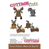 CottageCutz Die - Forest Peekers: Moose & Squirrel