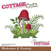 CottageCutz Die - Mushrooms & Greenery