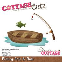 CottageCutz Die - Fishing Pole & Boat