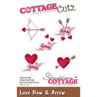 CottageCutz Die - Love Bow & Arrow