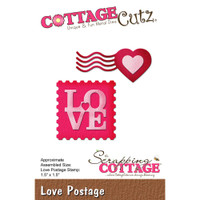 CottageCutz Die - Love Postage