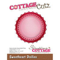 CottageCutz Die - Sweetheart Doilies
