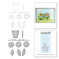 Spellbinders Happy Grams by Tammy Tutterow Stamp & Die Set : Posie Parts