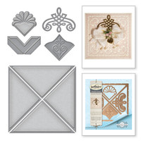 "Spellbinders Card Creator  Etched Dies Amazing Paper Grace by Becca Feeken: Graceful 6 x 6"" Frame Maker"