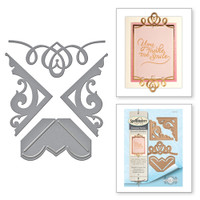 Spellbinders Card Creator  Etched Dies Amazing Paper Grace by Becca Feeken: Graceful Corners One