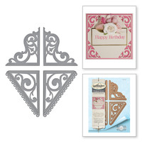Spellbinders Card Creator  Etched Dies Amazing Paper Grace by Becca Feeken: Graceful Corners Two