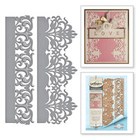 Spellbinders Card Creator  Etched Dies Amazing Paper Grace by Becca Feeken: Graceful Damask