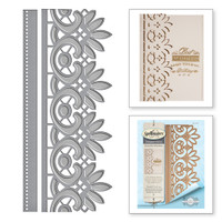 Spellbinders Card Creator  Etched Dies Amazing Paper Grace by Becca Feeken: Graceful Floral Lace