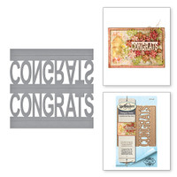 Spellbinders Shapeabilities  Etched Dies Celebrate the Day by Marisa Job: Congrats Pop-Up