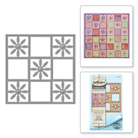 Spellbinders Shapeabilities  Etched Dies Celebrate the Day by Marisa Job: Flower Tile