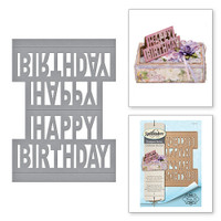 Spellbinders Shapeabilities  Etched Dies Celebrate the Day by Marisa Job: Happy Birthday  Pop-Up